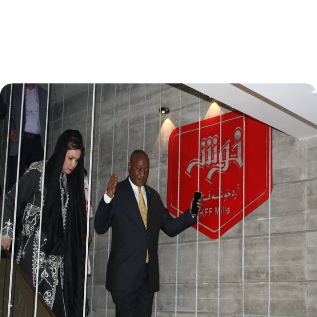 بازدید آقای کومالو سفیر آفریقای جنوبی از شرکت آرد خوشه فارس